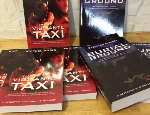 Personally signed, First Edition copies of Domin8, The Vigilante Taxi and Burial Ground available for order.